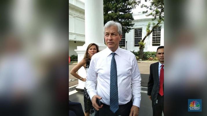 Temui Jokowi, JP Morgan Kini Optimistis Soal Ekonomi RI