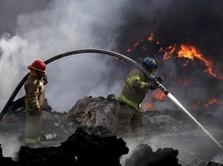 Kebakaran Terjadi di Hutan Pinggir Tol Cipali KM 127