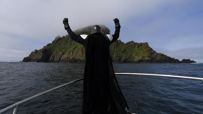 Bagian indah dari negara itu, Skellig Michael muncul di dua film Star Wars terakhir, The Force Awakens dan The Last Jedi. Itu adalah lokasi 'persembunyian' Luke Skywalker. (REUTERS/Clodagh Kilcoyne)