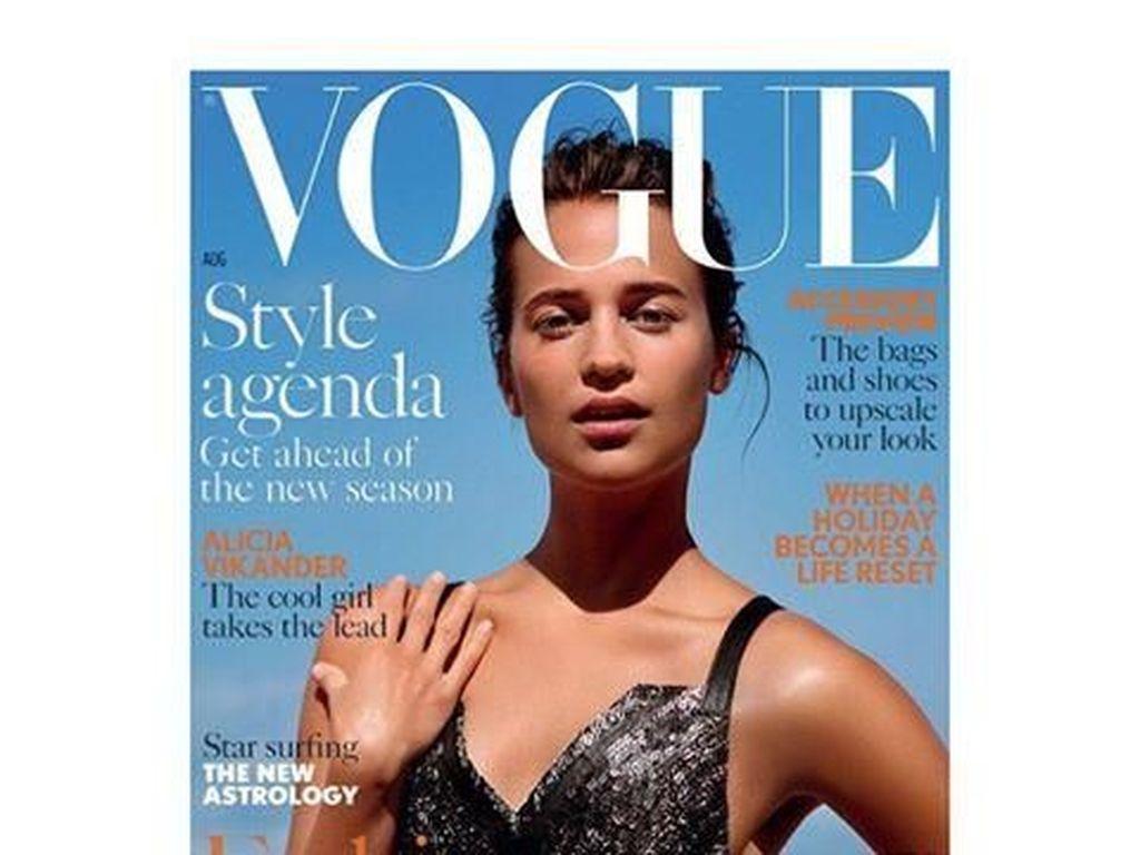 15 Artis Wanita Berani Tampil Polos Tanpa Makeup di Sampul Majalah