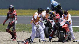 Insiden Dovizioso Salah Motor Usai Kecelakaan MotoGP Spanyol