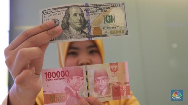 Nilai tukar rupiah hari ini melemah 0,28% dibandingkan posisi penutupan perdagangan hari sebelumnya.
