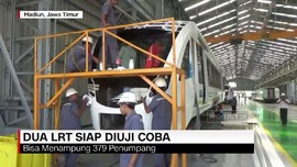 Dua LRT Siap Diuji Coba