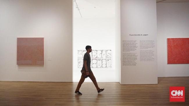 Sebanyak lebih dari 130 karya seniman yang masih hidup dan berkarya di Jepang itu bakal dipampang, membiarkan pengunjung menyelami 70 tahun kariernya sejak era 1950-an. (CNN Indonesia/Agniya Khoiri)