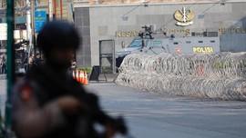 Mako Brimob Terkendali, Polisi Cabut Kawat Berduri