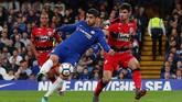 Alvaro Morata memilih hijrah dari Real Madrid karena ingin mendapatkan kesempatan bermain secara reguler. Namun pindah ke Chelsea ternyata tak berujung hasil manis untuk Morata. (REUTERS/Hannah McKay)