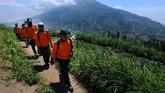 Berdasarkan data Pos Pendakian Gunung Merapi Selo saat terjadi letusan freatik Gunung Merapi terdapat sedikitnya 160 pendaki berada di Gunung Merapi. Kinipendakian Gunung Merapi ditutup hingga batas waktu yang belum ditentukan. (ANTARA FOTO/Aloysius Jarot Nugroho)