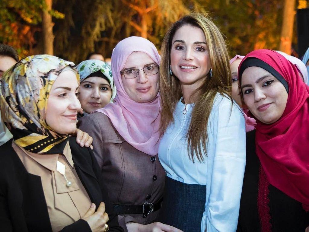 8 Fakta Ratu Rania, Istri Cantik Raja Yordania yang Aktif Membela Palestina