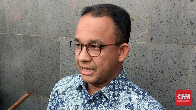 Pembukaan Jakarta Fair Diguyur Hujan, Anies Anggap Berkah