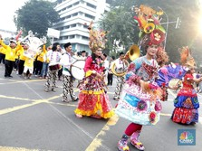 Meriahnya Parade Asian Games 2018