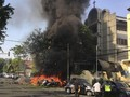 Polisi Evakuasi Jenazah Terduga Pelaku Bom Gereja Pantekosta