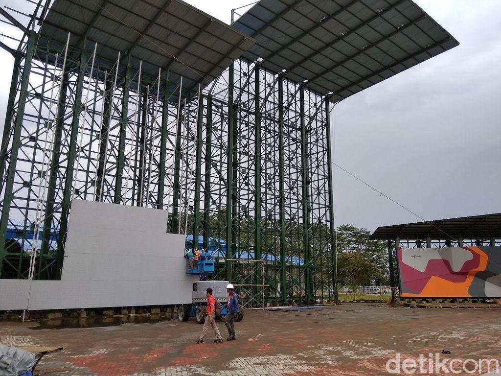 Setelah renovasi selesai, venue dapat digunakan untuk persiapan para atlet. Dok. Federasi Panjat Tebing Indonesia.