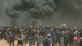 VIDEO: Demonstrasi di Gaza, Puluhan Warga Palestina Tewas