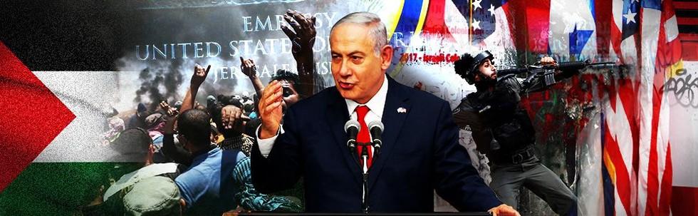 Protes Kedubes AS di Yerusalem