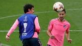 PemainAtletico Madrid Gabi bertekad memberikan kemenangan untuk timnya di final Liga Europa. (REUTERS/Christian Hartmann)