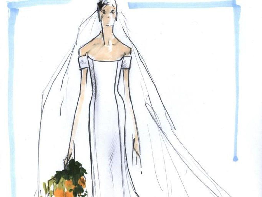 Ini Gaun Pengantin Meghan Markle Rancangan Valentino Hingga Karl Lagerfeld