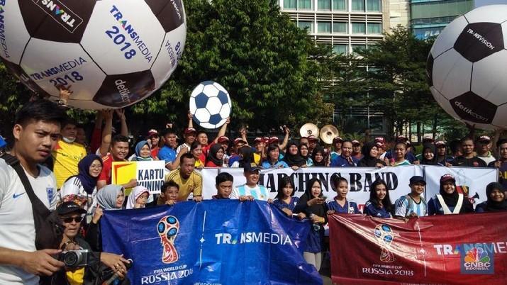Foto: Heboh Demam Bola di Kampung Piala Dunia