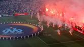 Suasana jelang final Liga Europa 2018 antara Olympique Marseille vs Atletico Madrid di Stadion Parc Olympique Lyonnais, Rabu (16/5). (REUTERS/Vincent Kessler)