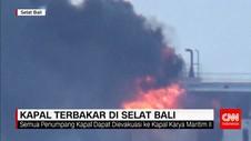 KMP Labitra Adinda Terbakar di Selat Bali