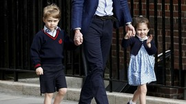 Tingkah Pangeran George-Putri Charlotte Iringi Meghan Markle