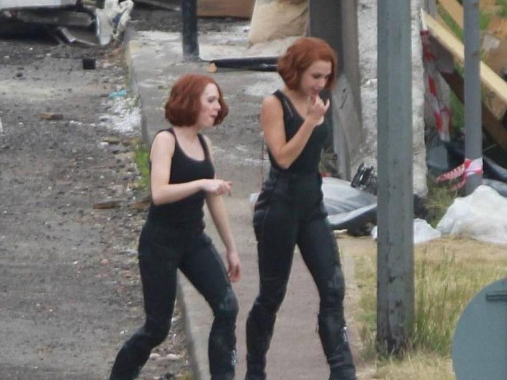 Selain stuntman, ada juga stuntwoman seperti ini yang mengganti peran Black Widow yang diperankan oleh Scarlett Johansson. (Foto: Facebook)