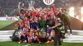 Musim ini Atletico Madrid sukses merebut gelar Liga Europa dan finis kedua di Liga Spanyol. (REUTERS/Peter Cziborra)