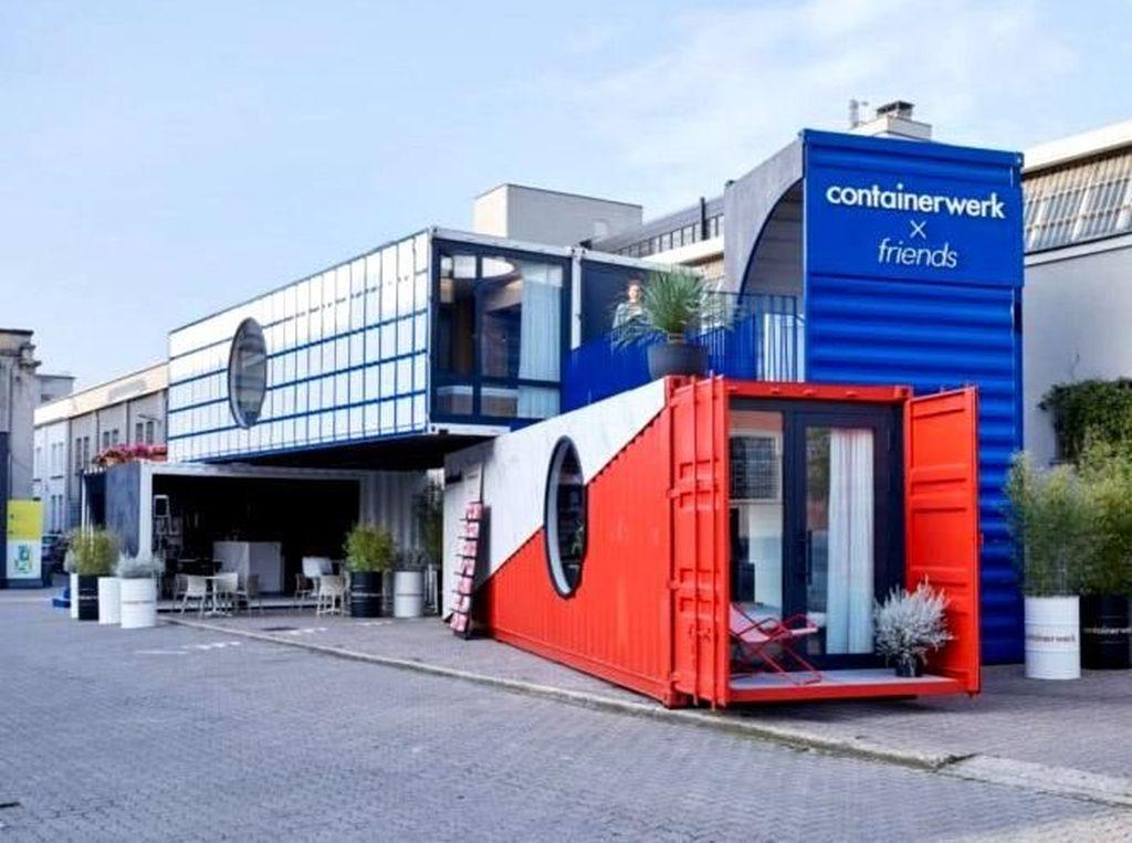 Rumah kontainer ini sempat dipamerkan di Milan Design Week. Istimewa/Inhabitat.