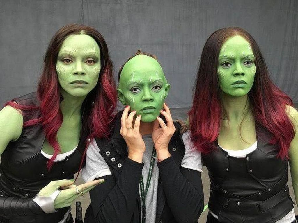Zoe Saldana berperan sebagai Gamora. (Foto: Facebook)
