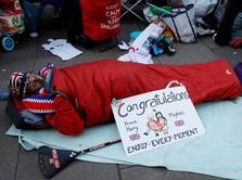 Warga Rela Tidur di Jalan Demi Pernikahan Harry-Meghan