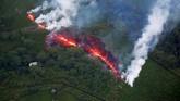 Badan survei geologi Amerika Serikat mengeluarkan peringatan 'merah' atau 'bahaya' pada Selasa (15/5), yang berarti letusan besar bisa saja terjadi, atau sedang berlangsung dan abu dapat mempengaruhi lalu lintas udara.(Reuters/Terray Sylvester)