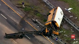 VIDEO: Bus Sekolah Tabrak Truk Sampah di New Jersey, 2 Tewas