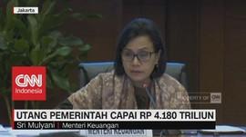 Wow! Utang Pemerintah Capai Rp.4.180 Triliun