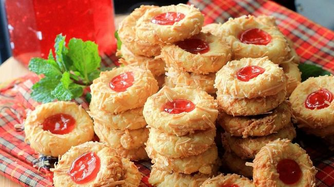 Resep Kue Kering Strawberry Thumbprint