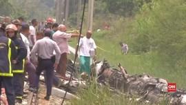 VIDEO: Tiga Orang Selamat dalam Kecelakaan Pesawat Kuba