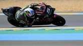 Kualifikasi MotoGP Prancis di Sirkuit Le Mans, Sabtu (19/5), berlangsung menarik. Johann Zarco untuk kali pertama memimpin saat babak kualifikasi menyisakan sepuluh menit. (REUTERS/Gonzalo Fuentes)