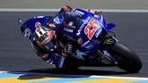 Pebalap Movistar Yamaha Maverick Vinales yang merupakan juara bertahan MotoGP Prancis akan start dari posisi delapan pada balapan di Sirkuit Le Mans malam ini. (REUTERS/Gonzalo Fuentes)