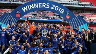 FOTO: Chelsea Berpesta di Wembley Usai Juara Piala FA