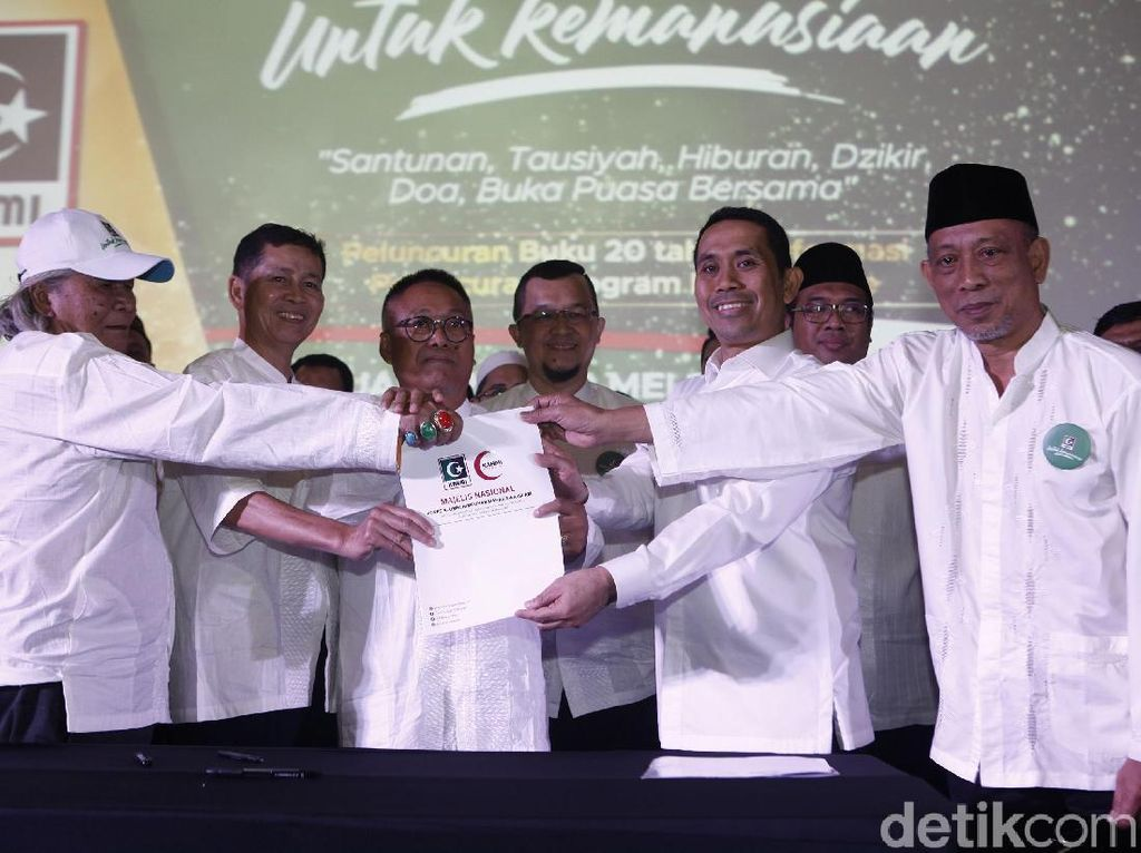 Presedium KAHMI. Kamrussamad melantik Majelis Nasional KAHMI dalam KAHMI untuk Kemanusiaan di Jakarta. pool