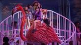 Musisi asal Inggris, Dua Lipa tampil menawan membawakanNew Rules di atas panggung BBMAs. (REUTERS/Mario Anzuoni)