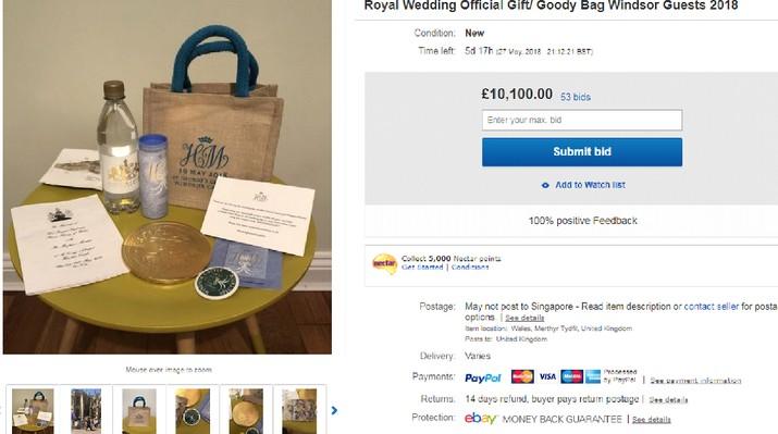 Beberapa orang sengaja menjual suvenir pernikahan Pangeran Harry-Meghan untuk mencari keuntungan.