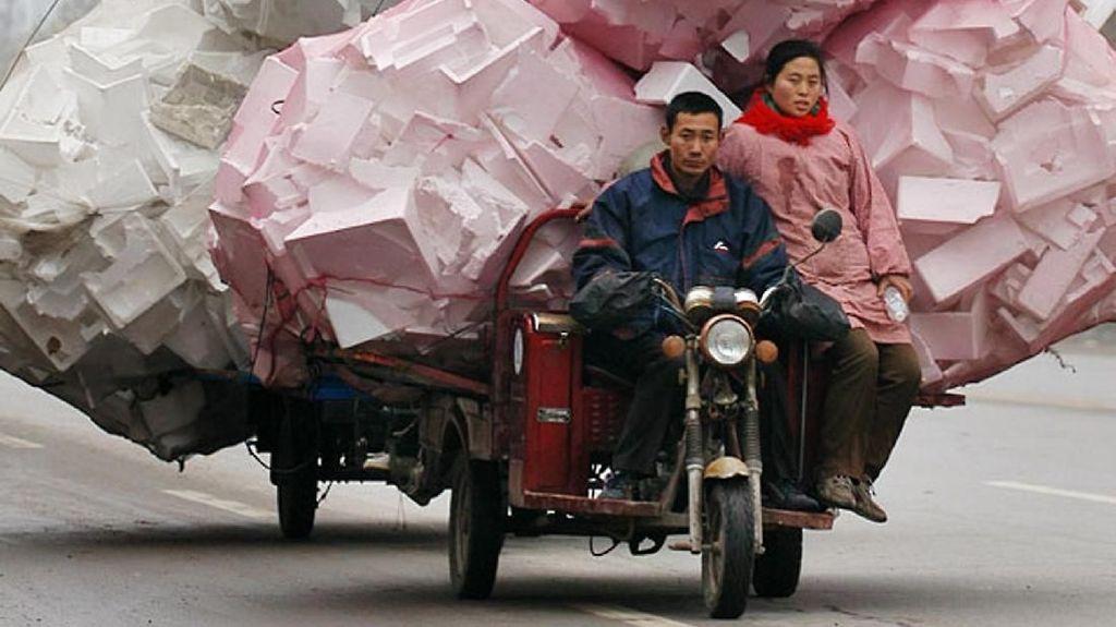 Sepeda, Becak Sampai Truk 'Obesitas' di China Ini Bikin Takjub