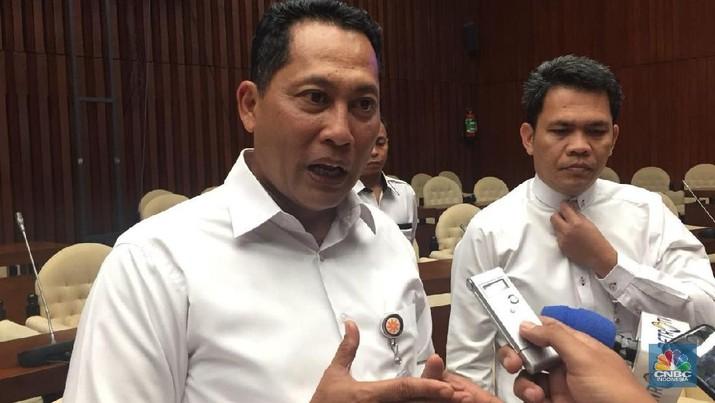 budi waseso beras sachet (CNBC Indonesia/Chandra Gian Asmara)