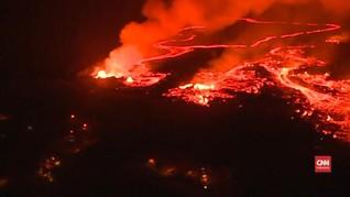 VIDEO: Tumpahan Lava Gunung Kilauea Ciptakan Awan Asam