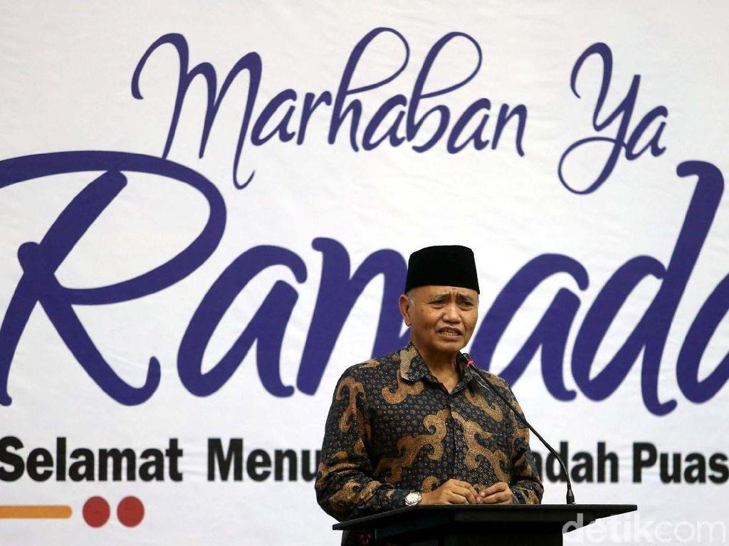 Ketua KPK Agus Rahardjo menyampaikan sambutannya.