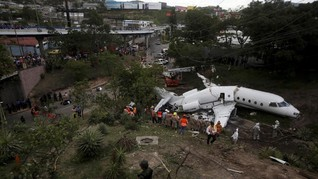 FOTO: Keajaiban dalam Kecelakaan Pesawat di Honduras