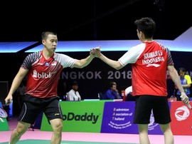 Indonesia Imbangi China Setelah Marcus/Kevin Menang