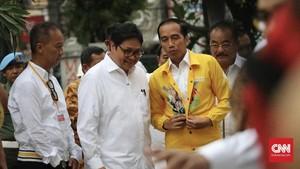Jokowi dan Ketum Parpol Pengusung Hadiri HUT Golkar ke-54