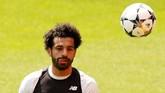Winger asal Mesir Mohamed Salah akan menjadi andalan Liverpool untuk membobol gawang Real Madrid pada laga final Liga Champions 2018. (REUTERS/Andrew Yates)