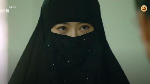 Heboh Aktris Cantik Ara Pakai Cadar Drama Korea Foto Kartun