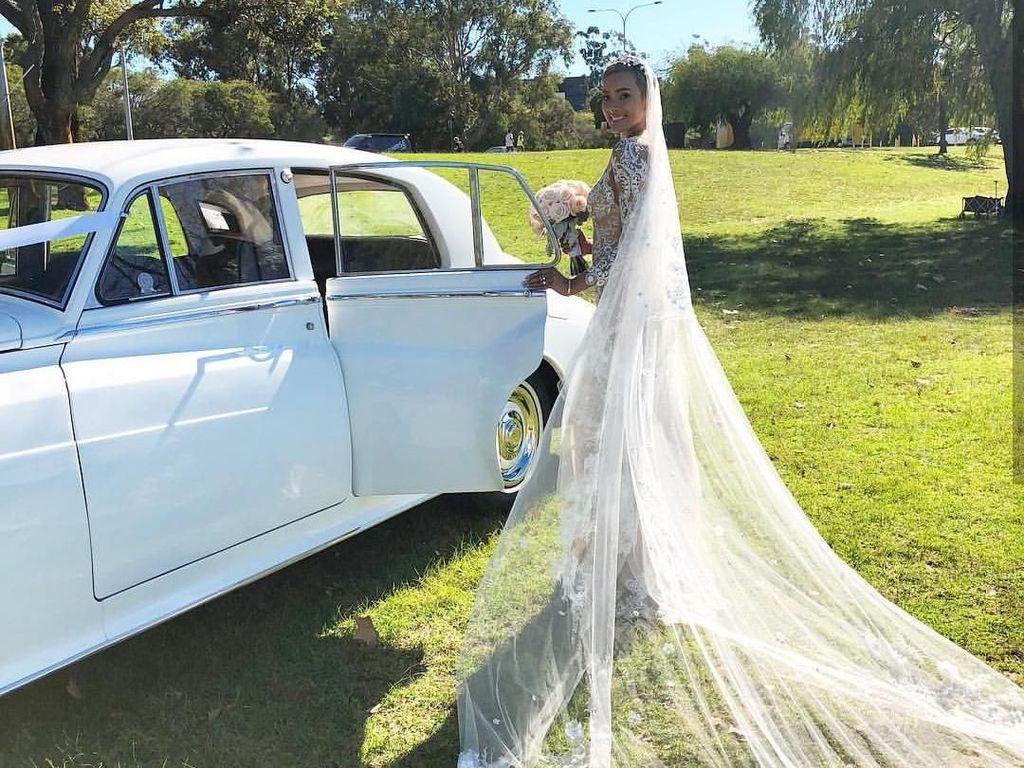 Foto: Model Kimmy Jayanti Cantik Bak Bidadari di Hari Pernikahan